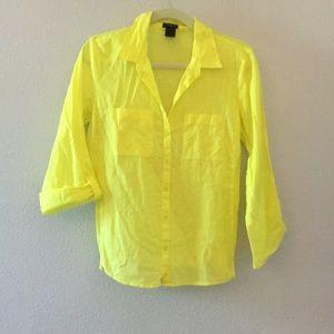 Yellow Ann Taylor button up shirt